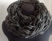 Arm Knit Infinity Stone Gray Cowl