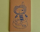 Pirate Lion - Screenprinted Pocket Moleskine Notebook Journal