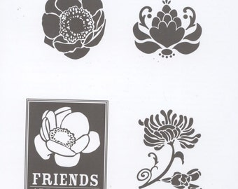 Stampin' Up / Clear Mount Rubber Stamp Set / Friends Never Fade / Four Images / Never Been Inked