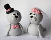 Custom Seal Wedding Cake Topper