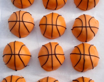 Cake Balls: Basketball Cake Bitty Bites. College basketball. Gift idea. March madness gift. Gift for guy. Birthday gift