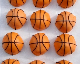 Cake Balls: Basketball Cake Bitty Bites. College basketball. NBA gift idea. March madness gift. Gift for guy. Birthday gift