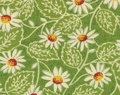 Pot Luck - Sweet Pea - Fabric for Moda - Green Floral - 1 Yard - 9.85 Dollars
