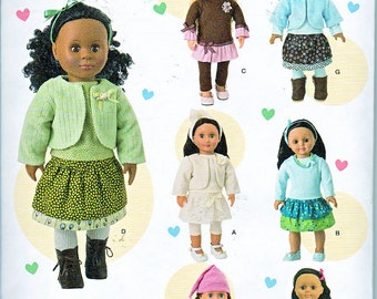 "Simplicity 1515 18"" Doll Clothes Sewing Pattern Fits American Girl Brand New Fall 2013 UNCUT"