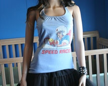 Speed Racer halter top recycled Small