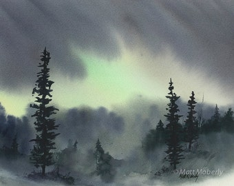 Aurora Print from Original Watercolor