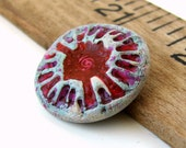 S A L E - Handmade Rustic Polymer Clay Pendant