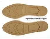 espadrille jute soles - M5 -  flat heel - right and left - 35 to 42 European sizes