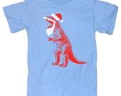 Santasaurus Rex Funny Dinosaur T-Shirt (Santa T-Rex) As Seen on The LAST MAN on EARTH
