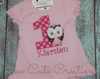Owl Birthday Dress, Girl Owl Dress, Birthday Owl Dress, Owl birthday outfit, 1st birthday, 2nd birthday, 3rd, 4th, sew cute creations