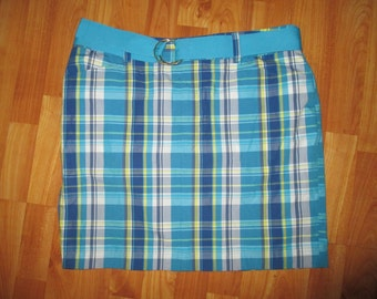 The Ultimate Aristocratic, Classic and Chic CHAPS Plaid Golf Skirt