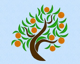 Orange Tree or Apple Tree or Cherry Tree - Fruit Tree machine embroidery design file
