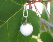 RESERVED FOR  MEBEEMISSY - Simple White Mountain Jade Gemstone Necklace by Little Wishes