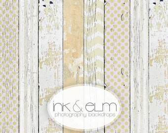 """Photography Backdrop 4ft x 3ft, Vinyl Photography Backdrop, Painted Wood Neutral Tones Backdrop, Photo Booth Prop """"Boys and Girls Allowed"""""""
