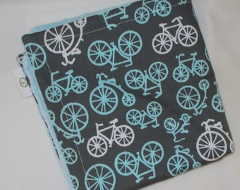 Blue Bicycles Minky Security Blanket Lovey