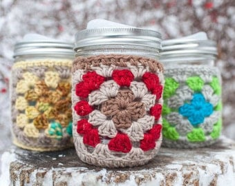 crochet cozy for mason jar -- made to order