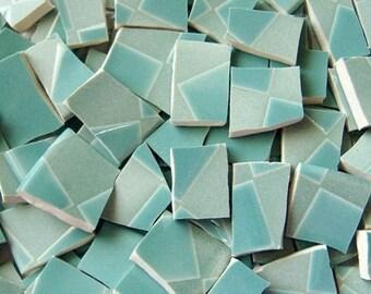 Mosaic Tiles- Checkered Green --95 Tiles