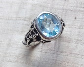 Sky Blue Topaz and Sterling- The Ivy Ring