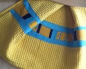 Dish Towel, Kitchen Towel, Modern, Yellow, Tea Towel, Patchwork Towel, Hand Towel, Cotton