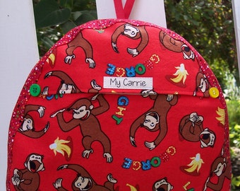My Carrie Baby/Toddler Backpack made with Curious George Fabric