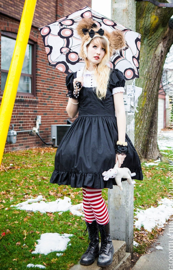 Gloomth Tuxedo Dress with Skull Bow Tie