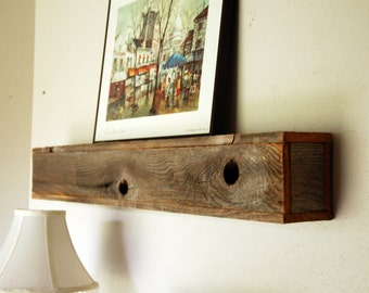 Rustic Floating Shelf Eco Friendly Gift Wall Shelf Box Shelf Wood Shelf Wooden Recycled Wall Hanging Farmhouse Decor Home Present Office