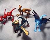 Children of War, OOAK dragon sculpture set of 4