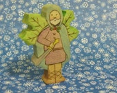 Waldorf Inspired Handmade Wooden Holly King Doll RESERVED for michelefitzgerald5