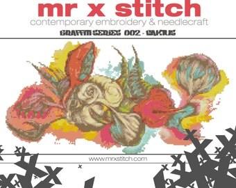 Graffiti Cross Stitch #002 - Caktus
