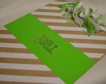 CHRISTIAN CLIPBOARD Kraft Stripes