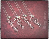 Personalized Name Pendant Sterling Silver Name Necklace Custom Name Jewelry Calligraphy Name Birthstone Necklace With Chain Script Name