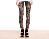 Velvet Leggings, Leopard Print Leggings, Womens Leggings, Animal Print Leggings, Printed Leggings, Leopard Pants, Norwegian Wood