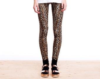 Velvet Leggings, Leopard Print Leggings, Womens Leggings, Animal Print Leggings, Printed Leggings, Leopard Pants, Norwegian Wood