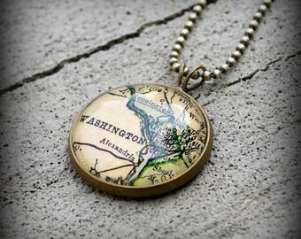 Washington DC Map Necklace