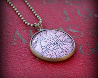 London Map Necklace