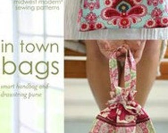 Amy Butler Midwest Modern Sewing Patterns - In Town Bags Pattern - Purse Tote Pattern