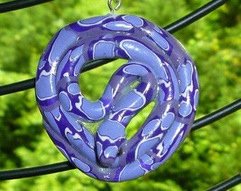 Valentine Gift SNAKE pendant Purple & Lavender Snake Necklace Charm Valentine's Day Gift