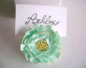 Wedding Peony Place Card Holder. Wedding Favor. Wedding Decoration. Made -to- Order - parsi