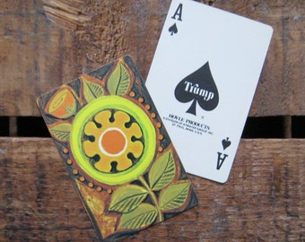 Vintage Retro Flower Playing Card Deck - Full Deck