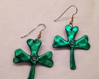 Shamrock Dangle Earrings for St Patricks Day
