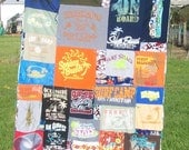 T-shirt Blanket Upcycled Recycled Surfing Shirts Lap Blanket Ready to Ship