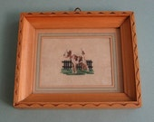 Fox Terrier Dog -- Petit-Point Embroidery -- Vintage -- Needlework -- Miniature