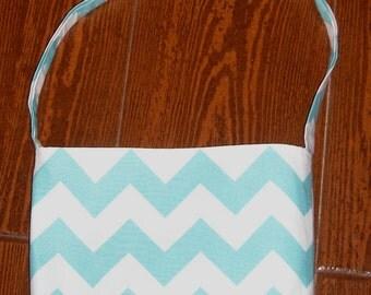 Aqua Chevron toddler purse