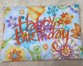 Happy Birthday Quilted Mug Rug
