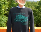 vintage 80s sweatshirt BEACH HOUSE garden city fanta-sea south carolina Large black