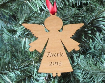 Angel Wooden Christmas Ornament - Personalized Chrsitmas Ornament