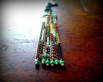 Fringe Tassel Boho Necklace | Bohemian Jewelry | Christmas Her | Music Festival Fashion | Hippie Gypsy Style | Cowboy Chic | Gift Girlfriend