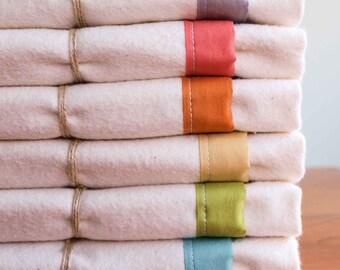 Cozy Organic Cotton Flannel, Toddler-Sized Blanket; Custom Toddler Bedding; Crib or Toddler Bed Blanket, Big Kid Blanket, Handmade in Canada