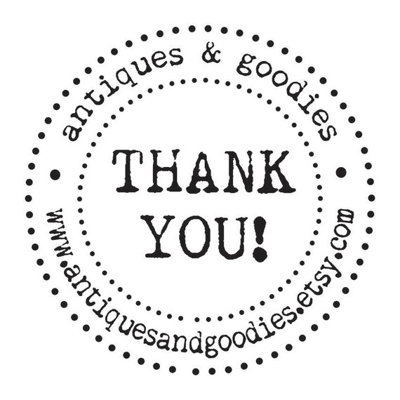 Clear Block Thank you Stamp custom for Businesses