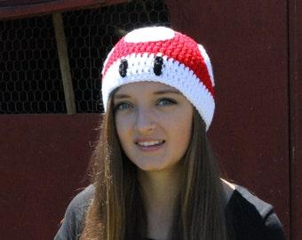 Red Mushroom Beanie ~ All Sizes ~ Mario-Inspired